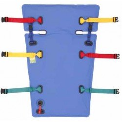Matelas coquille pédiatrique Norme 10G, immobilisateur à dépression (MID) à billes compartimentées avec découpes latérales