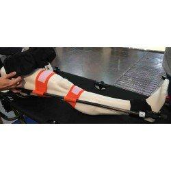 Attelle de traction CT7, version civile sur mannequin