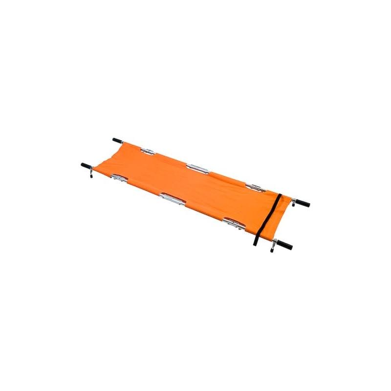 Brancard pliant en 8, charge max. 159 kg, livré avec sac de rangement