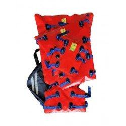 Kit de 3 attelles (poignet/bras/jambe) renfort rouge