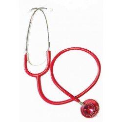 Stéthoscope double pavillon adulte, coloris rouge