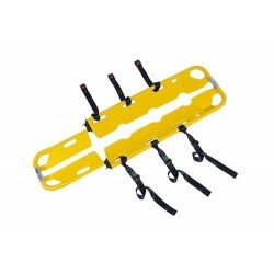 brancard cuillère, civière de relevage en PEHD jaune